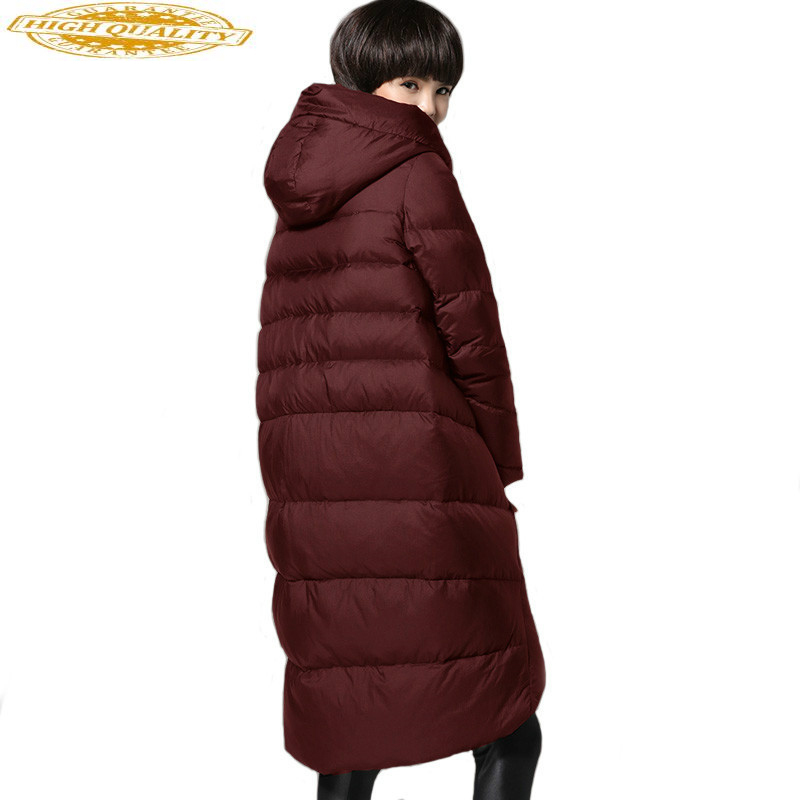 Ultra Light Down Jacket Women Hooded Winter Long Down Coat Female Plus Size Puffer Jacket Parka 2020 YL17010501 KJ3738
