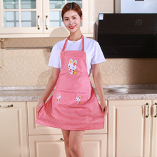 Rabbit Kitchen Apron Linen Easy Pink White Women Cute Home-Cleaning-Tools Cotton Cartoon