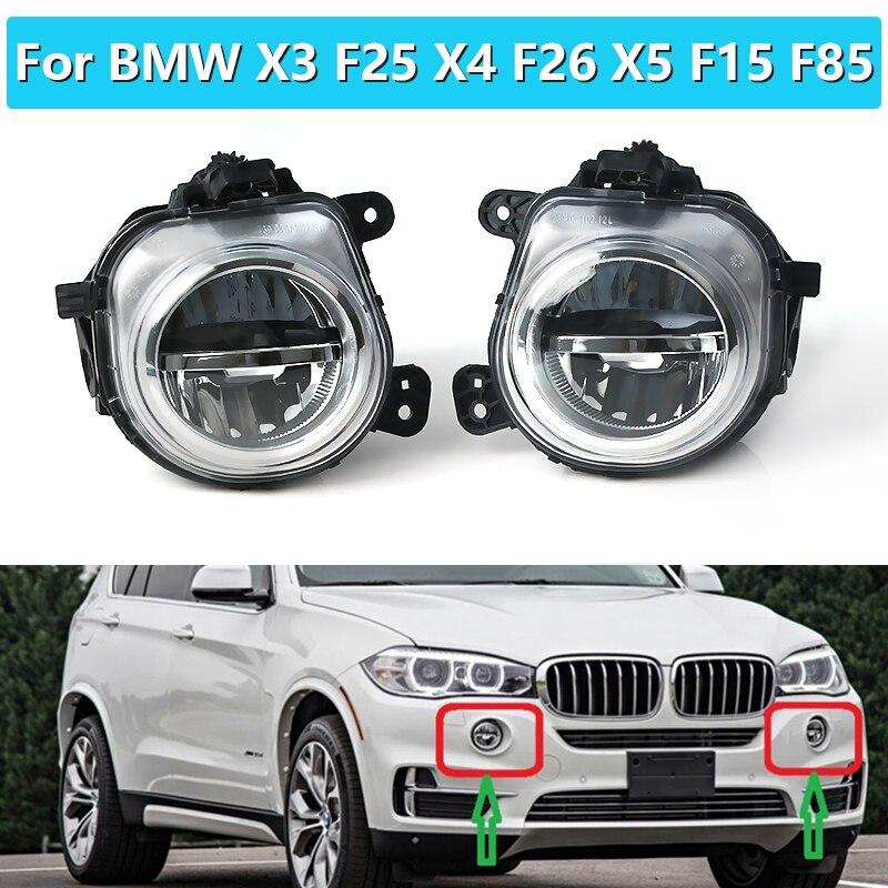 63177317251 63177317252 1 пара для BMW X3 F25 X4 F26 X5 F15 F85 2014-2016 переднего бампера светодиодный туман светильник лампы ДХО фар дальнего света