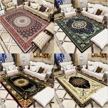 AOVOLL alfombra de área para sala de estar Navidad alfombra Europea elegante Vintage étnico persa alfombra de dormitorio gris decoración moderna del hogar