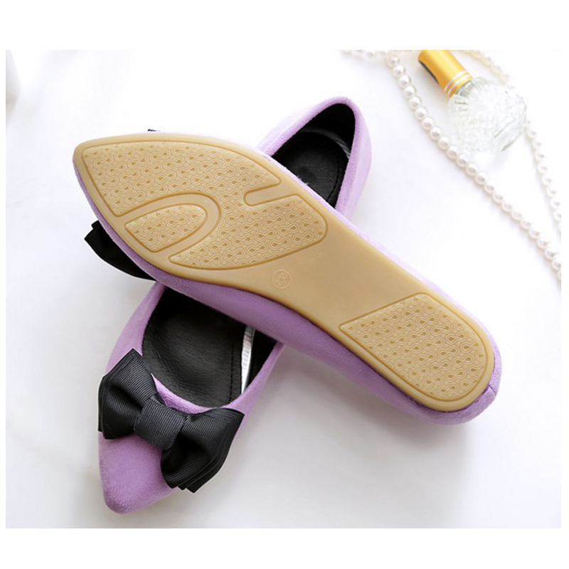 Image 5 - BEYARNEDriving shoes bag women brand flat shoes ladies moccasins with black and purple bow plus size  new arrival slip for partyWomens Flats   -