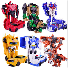 Transformation Robot Car Action Figures Toy Plastic Mini Deformation Vehicle Education Toy For Children Xmas Gift Kids Boys Toys 19cm height transformation deformation robot toy action figures toys with original box jj616c