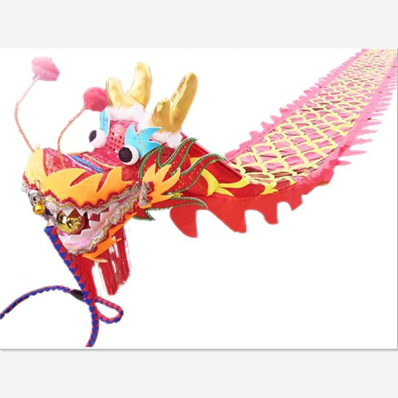10M 43x20x57cm Brief Chinese Dan Dragon With Ribbon Festival New Year Stage Performance Supplies Folk Dance For Carnival