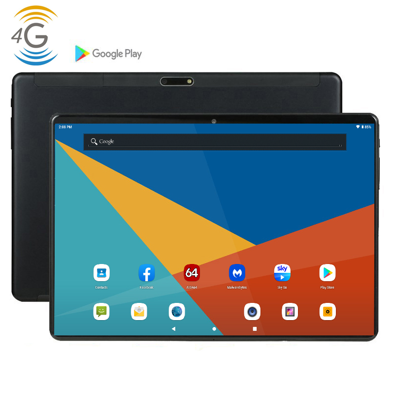 2020 CARBAYTA 4G LTE MID PC Global Bluetooth Wifi Phablet Android 9.0 10 Inch Tablet MTK Core Dual SIM Card 2.5D Tablet PC