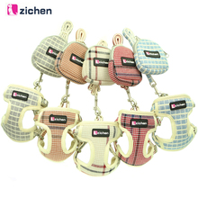 Get more info on the Zichen Pet Dog Harness Leash Snack Bag Adjust Plaid Breathable Fiber Cotton Cloth Dog Harness Vest Double Reinforcement S-M