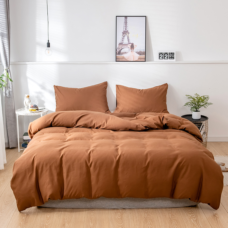 Solid Super Soft Duvet Cover Set King Queen Full Twin Double Single European Bedding Set Comforter Cover For Home Hotel Bedding