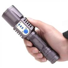 3800LM XM-L2 T6 LED Flashlight Torch Brightness USB Charge 5 Modes Mobile Power Bank Intelligent for Camping