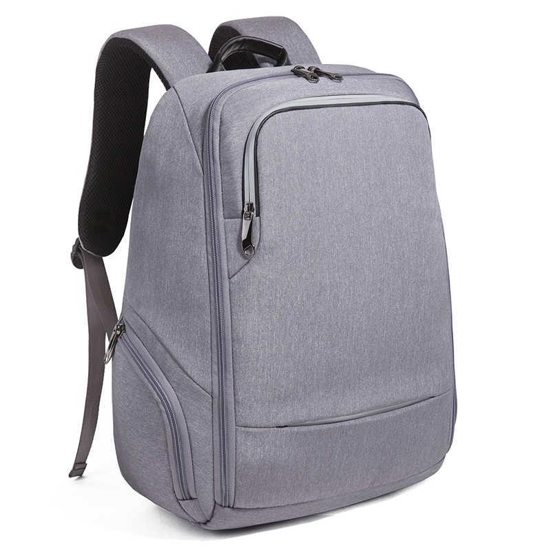 TIANHOO Business plecaki komputerowe podróże wodoodporne męskie usb plecak na akumulator funkcja ucznia tornister