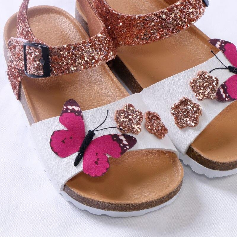 Designer Brand Kids Shoes Toddler Girl Sandals 2020 Summer New Fashion PU Leather Cork Girls Sandals Summer Kids Shoes Glitter