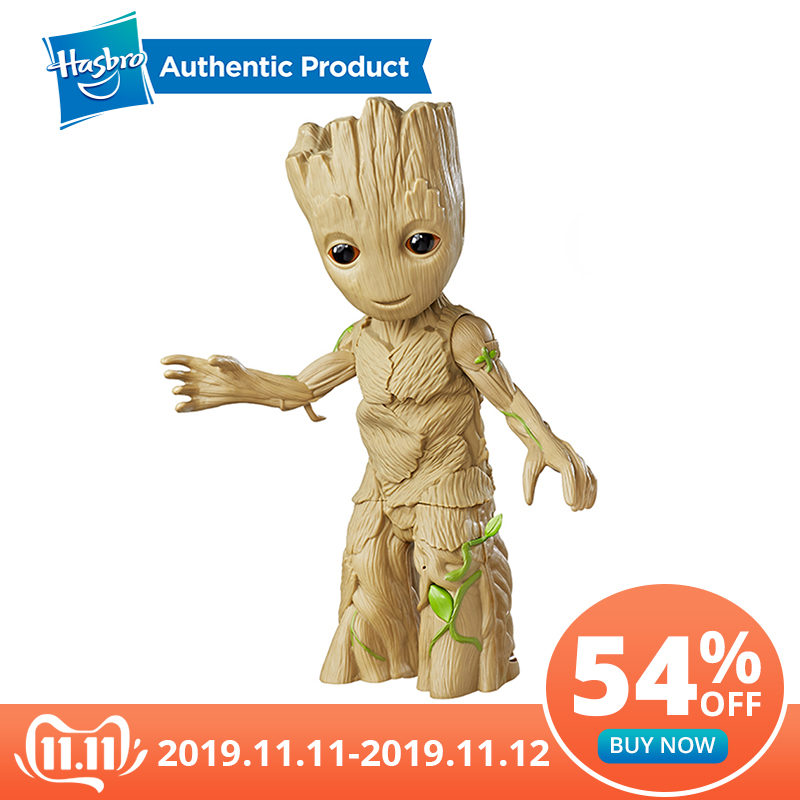 Hasbro Marvel Guardians Of The Galaxy Dancing 11.5Inch Groot Manual Model Collecting Action Figures