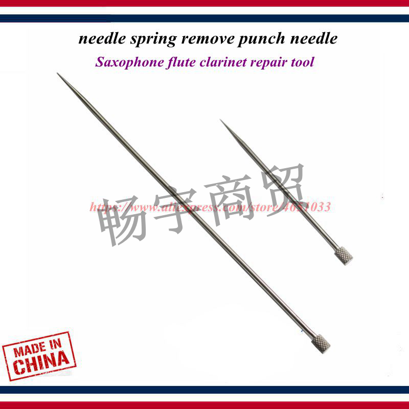 Wind Instrument Spring Punches Repair Tool Saxophone Flute Clarinet Repair Tool Needle Spring Remove Punch Needle
