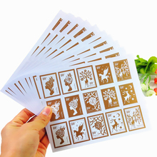 150pcs/pack Girl And Deer Stamp Styling Gifts Posted Baking Seal Package Label Multifunction Stickers