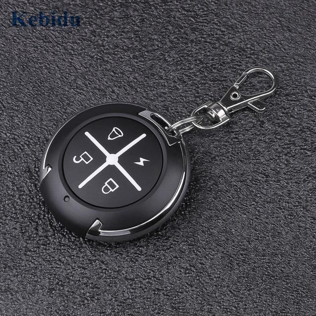 KEBIDU 4 Channel Cloning Duplicator Key Fob 433 MHz RFRemote Control For Garage Door Gate Key Fob command garage Universal