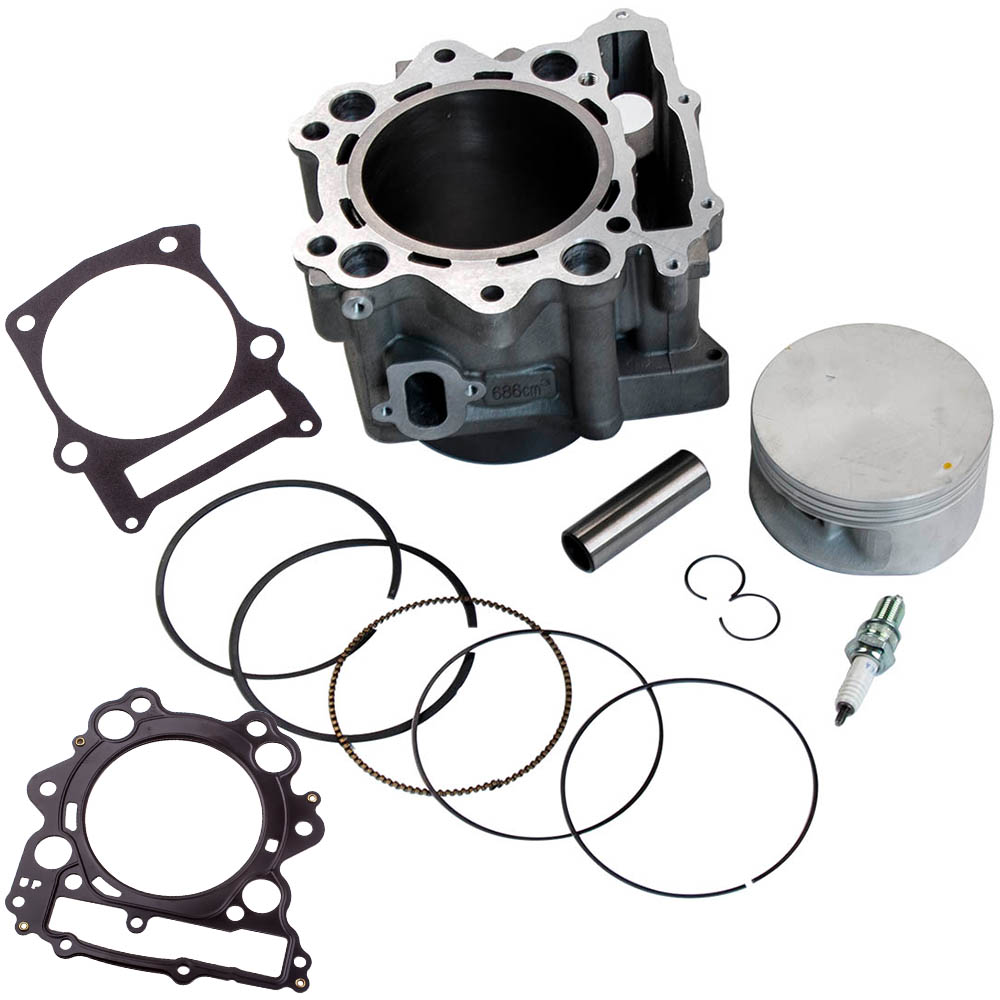 Cylinder Piston Gasket Kit for Yamaha Raptor 660R 102mm Big Bore 2004 686cc