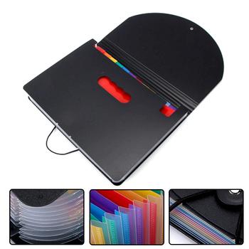 Kolorowe rozszerzenie pliku kieszenie na dokumenty pudełko 12 Folder papier biurowy Organizer wielofunkcyjny nk-shopping tanie i dobre opinie CN (pochodzenie) Torba na dokumenty File Folders