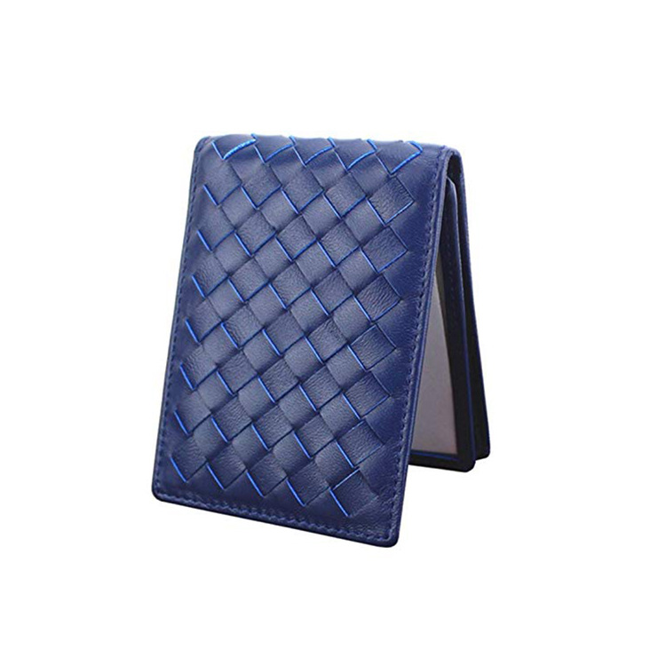 100% Leather Top Baby Cow Leather men Wallets Short money clip Fashion Woven Luxury Brand Wallet Simple Business 2020 New Spot