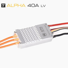 T-Motor multi-axis / multi-rotor motor dedicated governor FOC sine wave 4~6S 40A LV low-voltage version input ESC Alpha цена 2017