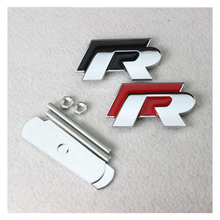 цена на For Golf 6 Tiguan Sagitar Scirocco Magotan cc with R logo Modified Grill car sticker Car Grill Badge Emblem