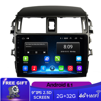 Android 8.1 Car Radio Multimedia Player For Toyota Corolla E140/150 2008 2009 2010 2011 2012 2013 Stereo GPS Navigation 2 din image