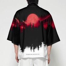 WAMNI Men Japanese Kimono Cardigan Samurai Costume Clothing Jacket Mens Forest kimono Shirt Streetwear