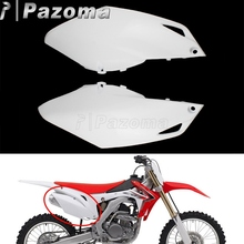 Motorcycle White Plastic Side Cover For Honda CRF 250R 2014-2017 CRF 450R 2013-2016 Motocross Dirt Bike Enduro Fairing Cowling