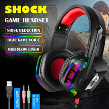 Wired Gaming Headset Game Earphones Wired Bass Stereo Headphones with light For PS4 Computer Gamer Laptop cheap None malloom For Internet Bar for Video Game Common Headphone For Mobile Phone HiFi Headphone Gaming Headset Headphones Game Earphones