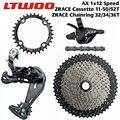 LTWOO AX 12 Скоростей переключения скоростей + задний переключатель велосипеда + кассеты/цепные кольца + YBN 12s набор цепей  для Eagle MTB велосипеда