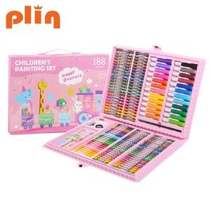 Image 5 - Conjunto de canetas marcadoras para crianças, conjunto de canetas artísticas para desenho de aquarela, arte, pintura para crianças, presente para escritório e papelaria com 288 peças suprimentos