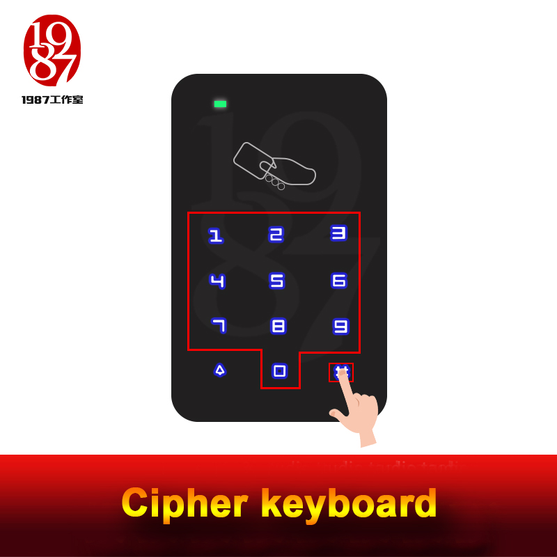 Takagism Game Prop, Real Life Room Escape Props Jxkj-1987 Cipher Keyboard  Enter Right Password On The Keyboard To Open Door