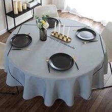 Mantel redondo de color sólido, impermeable, a prueba de aceite, antiescaldado, desechable, para el hogar, paño redondo