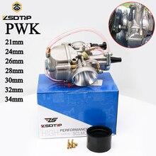 Zsdtrp Voor Pwk 21 24 26 28 30 32 34 Voor Keihin Koso Pwk Carburateur Met Power Jet Voor 50cc 250cc 2T 4T Motorfiets Carburateur