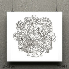 ZhuoAng Orchard model Clear Stamps For DIY Scrapbooking/Card Making Decorative Silicon Stamp Crafts