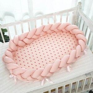 Berço de bebê, 95*50cm berço de bebê, malha, cor pura, bebê, berço, meninos, meninas, bebê recém-nascido, portátil cama berço