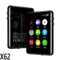Reproductor MP4 de metal con Bluetooth 5,0, pantalla táctil, altavoz incorporado de 2,4 pulgadas, 16G, con e-book, radio, grabación, reproducción de vídeo