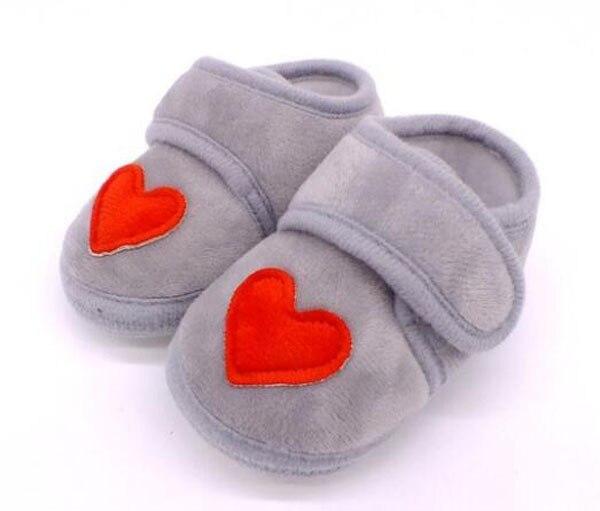 Sapatos bebê vermelho com coração, sapatos infantis rosa de recém-nascido, calçados para berço, antiderrapante, preto, bebê, meninos, nova sandália 2019 doce 2