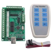 5 ejes Mach3 Cnc Breakout Board 1000Khz Usb Cnc Tarjeta de Control de movimiento máquina de grabado