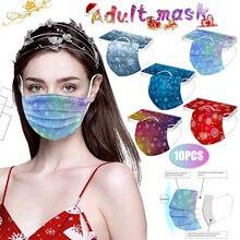 Masques jetables à trois couches, lot de 10 pièces, masques faciaux respirants pour adultes