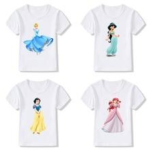 Children T-Shirt Clothing Short-Sleeve Birthday-Present Princess-Print Baby-Girls Summer