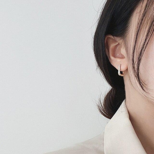 2021 coreano moda nova requintado simples brincos geométricos temperamento pequeno versátil brincos jóias femininas 3