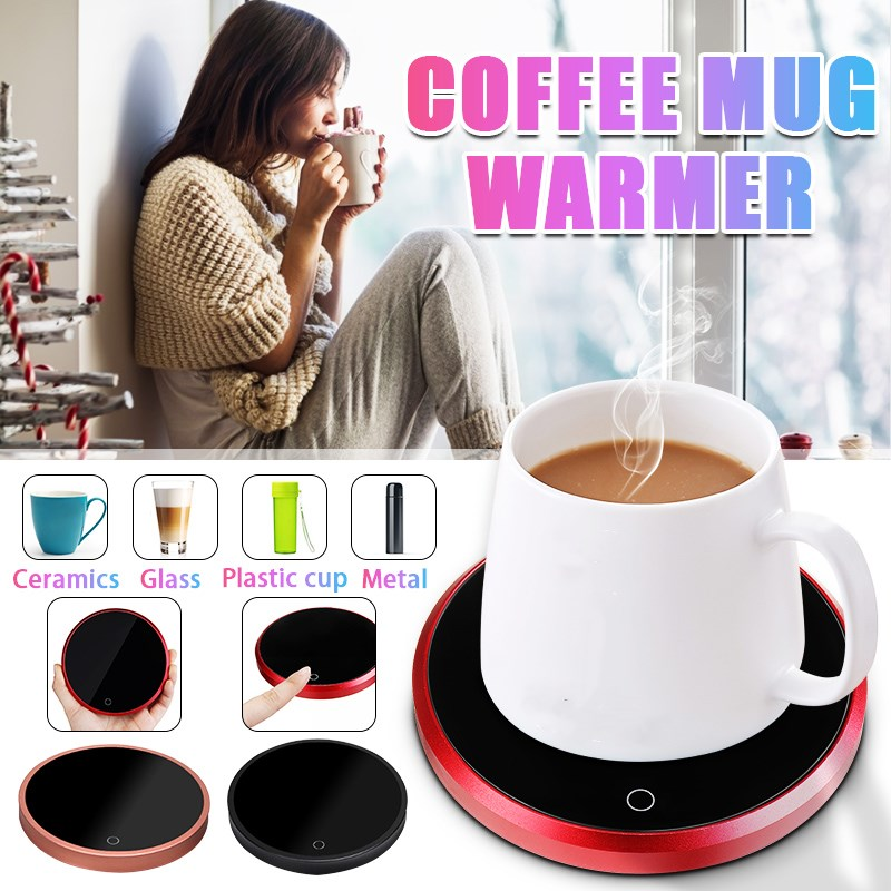 110/220V Electric Powered Cup Warmer Heater Pad 220V Hot Plate Coffee Tea Milk Mug US Plug White Household Office