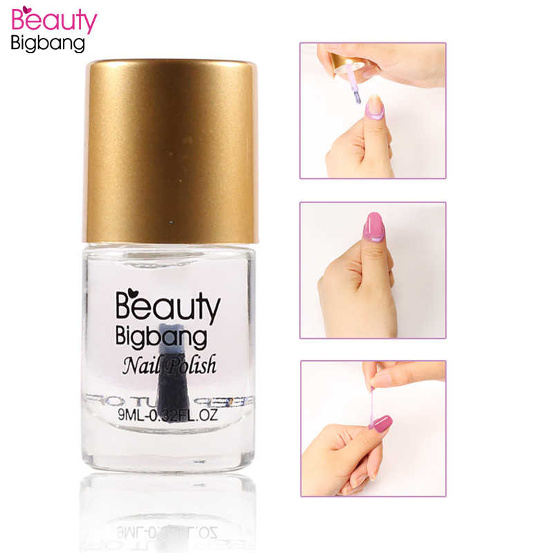 BeautyBigBang 9ml Sneldrogende Top Coat Nagellak Voor Stempelen Plaat Base Coat Manicure Nagellak Zorg Vernis Nail art Tool