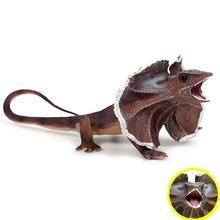 Simulation Frilldora Lizard Amphibious Animal Fugurine Prank Toy Table Decor figurines set toys small plastic Simulation