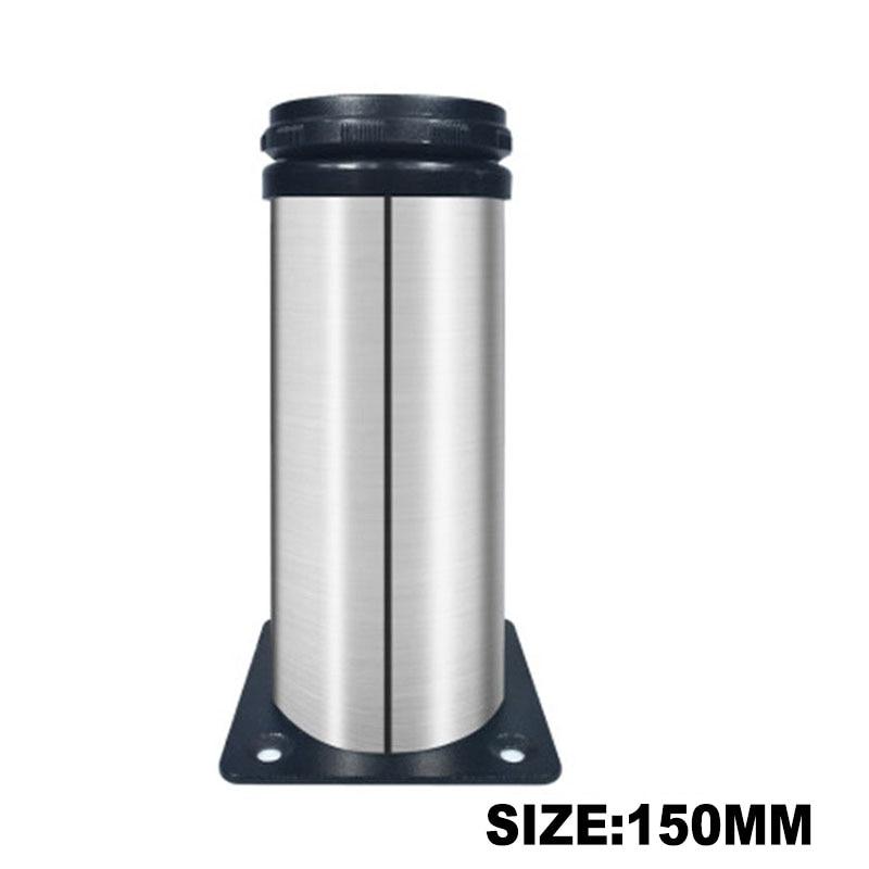 1Pcs Stainless Steel Leg Round Metal Feet Adjustable Kitchen Cabinet Stand Base