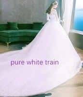 pure white train
