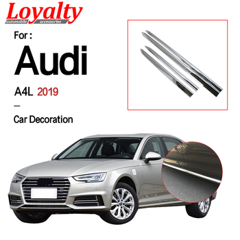 Loyalty For Audi A4L 2019 Door Body Side Cover Trim ABS Chrome ABS Carbon Fiber Car Accessories Auto Styling