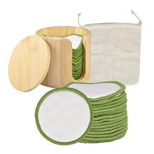 16 шт многоразовые бамбуковые хлопковые подушечки для снятия