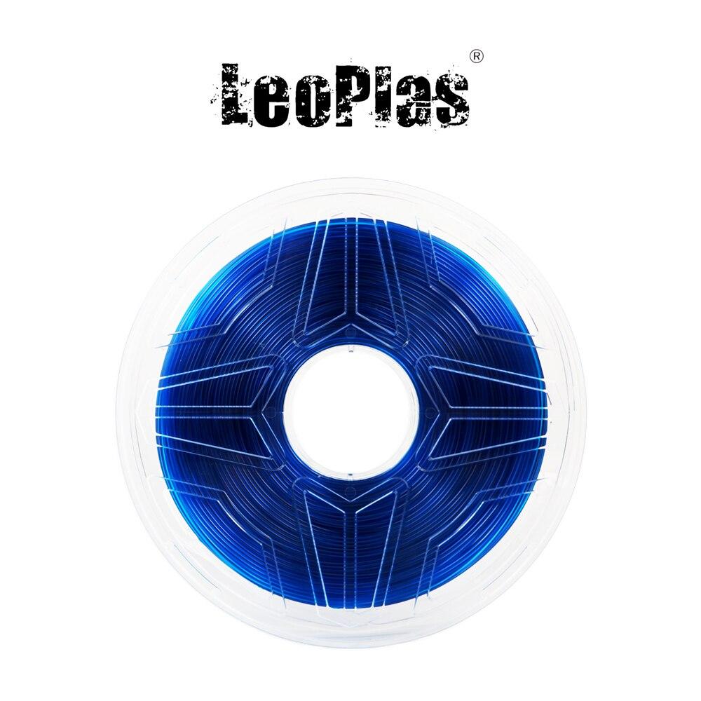 Liquidation vente aux etats-unis espagne entrepôt 1.75mm 1kg translucide bleu PETG Filament 3D imprimante fournitures en plastique matériel d'impression