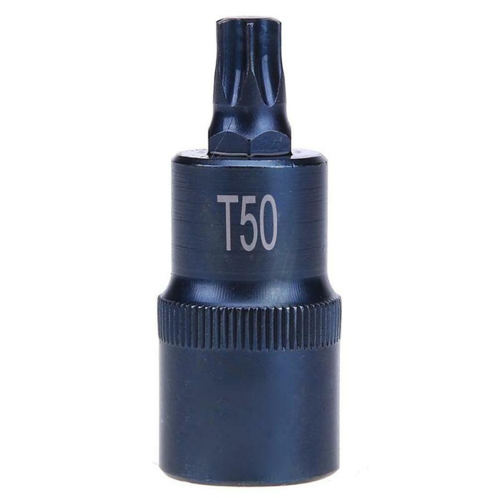 T40/45/50/55/60/70 Torx Screwdriver Socket Bits Adapter Drive Socket Tools Alloy Steel Durable Accessories
