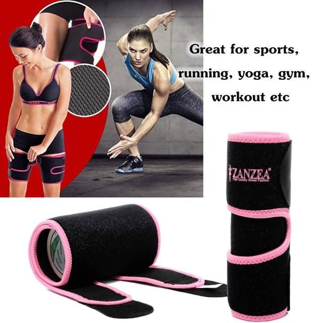 Pair Sweat Sauna Adjustable Arm / Thigh Belt Fat Burner Trainer Sports Gym Slimmer Weight Loss Shaper Muscle Slim Belt 3