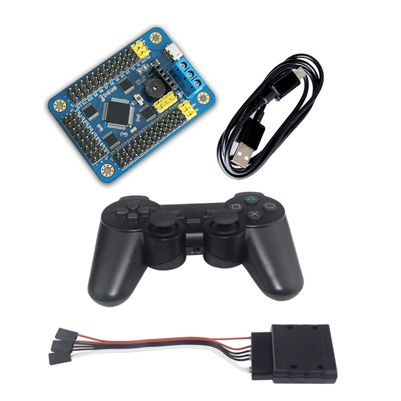 PS2 Remote Control Robot Arm Rotating Head Controller 32 Channel Steering Gear Driver Board Robot Motherboard DIY RC Toy Parts